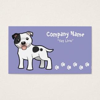 Cartoon Staffordshire Bull Terrier Business Card