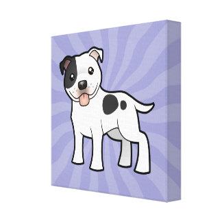 Cartoon Staffordshire Bull Terrier Canvas Print