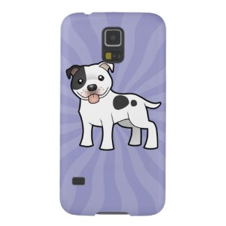 Cartoon Staffordshire Bull Terrier Galaxy Covers