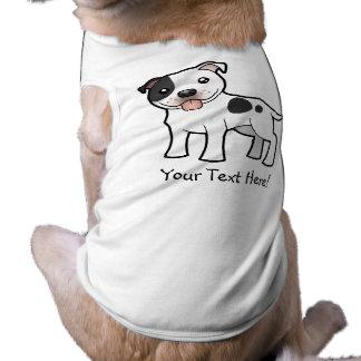 Cartoon Staffordshire Bull Terrier Pet T-shirt