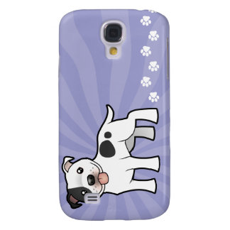 Cartoon Staffordshire Bull Terrier Galaxy S4 Cover