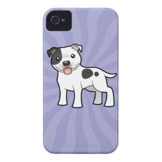 Cartoon Staffordshire Bull Terrier iPhone 4 Case-Mate Case