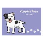 Cartoon Staffordshire Bull Terrier Large Business Card