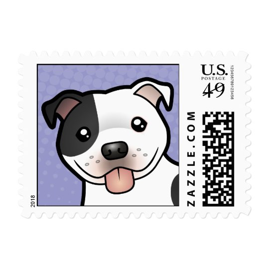Cartoon Staffordshire Bull Terrier Postage