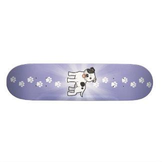 Cartoon Staffordshire Bull Terrier Skateboard Deck