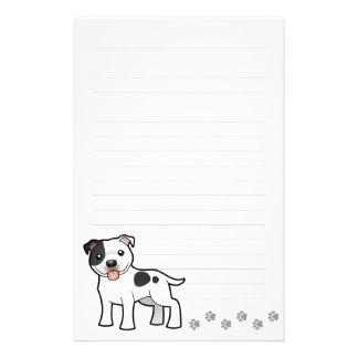 Cartoon Staffordshire Bull Terrier Stationery