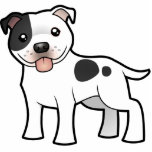 Cartoon Staffordshire Bull Terrier Statuette