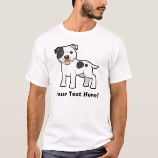 Cartoon Staffordshire Bull Terrier T-Shirt