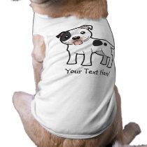 Cartoon Staffordshire Bull Terrier Tee