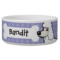 Cartoon Standard/Miniature/Toy Poodle Bowl