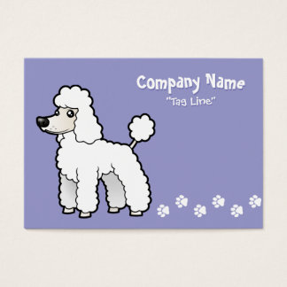Cartoon Standard/Miniature/Toy Poodle Business Card
