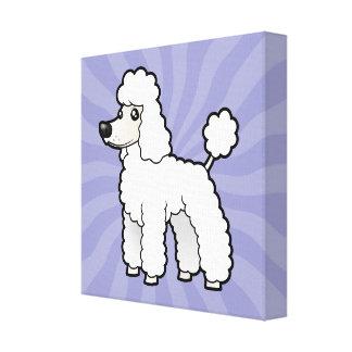 Cartoon Standard/Miniature/Toy Poodle Canvas Print