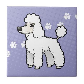 Cartoon Standard/Miniature/Toy Poodle Ceramic Tile