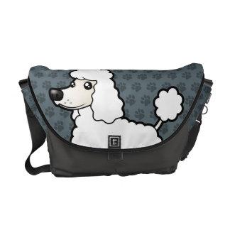 Cartoon Standard/Miniature/Toy Poodle Courier Bag