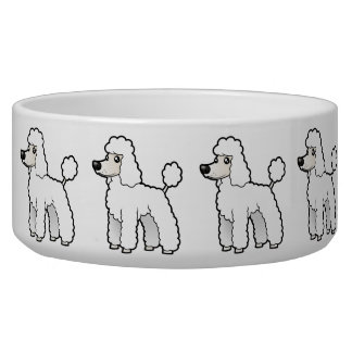 Cartoon Standard/Miniature/Toy Poodle Dog Bowl