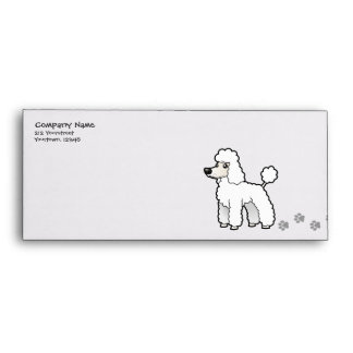 Cartoon Standard/Miniature/Toy Poodle Envelope