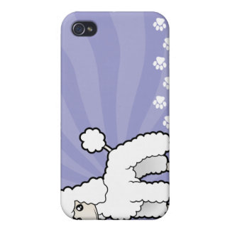 Cartoon Standard/Miniature/Toy Poodle iPhone 4/4S Cover