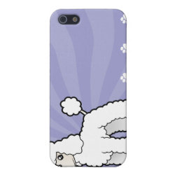 Case Savvy iPhone 5 Matte Finish Case with Poodle Phone Cases design