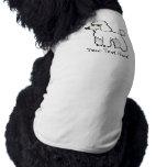 Cartoon Standard/Miniature/Toy Poodle Pet Shirt