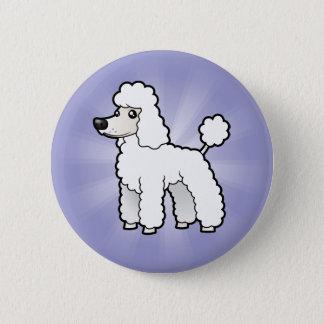 Cartoon Standard/Miniature/Toy Poodle Pinback Button
