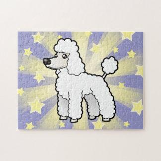 Cartoon Standard/Miniature/Toy Poodle (puppy cut) Jigsaw Puzzle