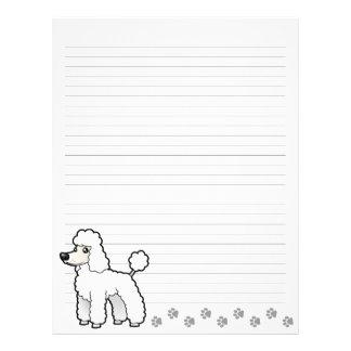 Cartoon Standard/Miniature/Toy Poodle (puppy cut) Letterhead