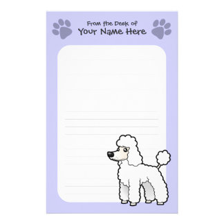 Cartoon Standard/Miniature/Toy Poodle (puppy cut) Stationery