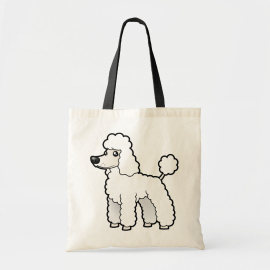 Cartoon Standard/Miniature/Toy Poodle (puppy cut) Tote Bag
