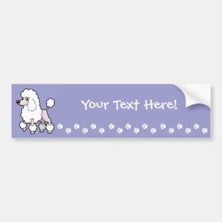 Cartoon Standard/Miniature/Toy Poodle (show cut) Bumper Sticker