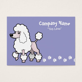 Cartoon Standard/Miniature/Toy Poodle (show cut) Business Card