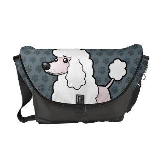 Cartoon Standard/Miniature/Toy Poodle (show cut) Courier Bag