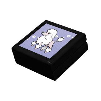 Cartoon Standard/Miniature/Toy Poodle (show cut) Trinket Boxes