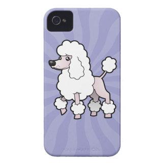 Cartoon Standard/Miniature/Toy Poodle (show cut) iPhone 4 Case-Mate Case