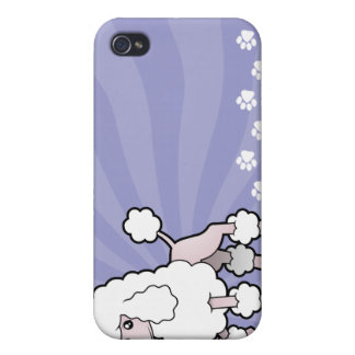 Cartoon Standard/Miniature/Toy Poodle (show cut) iPhone 4 Cover