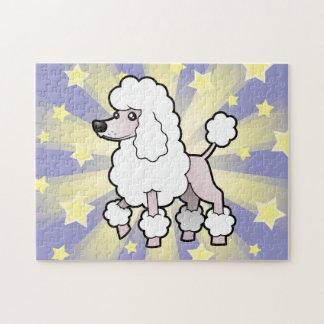 Cartoon Standard/Miniature/Toy Poodle (show cut) Jigsaw Puzzle