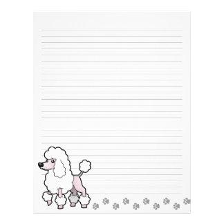 Cartoon Standard/Miniature/Toy Poodle (show cut) Letterhead