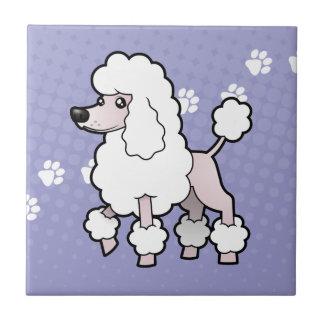 Cartoon Standard/Miniature/Toy Poodle (show cut) Tile