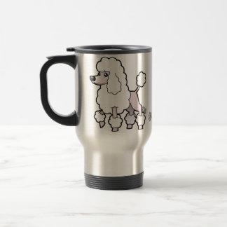 Cartoon Standard/Miniature/Toy Poodle (show cut) Travel Mug