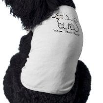 Cartoon Standard/Miniature/Toy Poodle T-Shirt