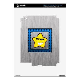 Cartoon Star; Metal-look iPad 3 Decals