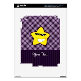 Cartoon Star; Purple Decals For iPad 3