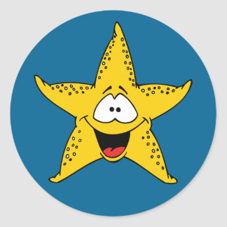 Cartoon Starfish Classic Round Sticker