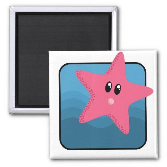 Cartoon Starfish Magnet