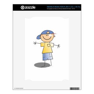 Cartoon Stick Boy Decal For NOOK