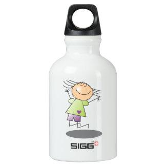 Cartoon Stick Girl SIGG Traveler 0.3L Water Bottle