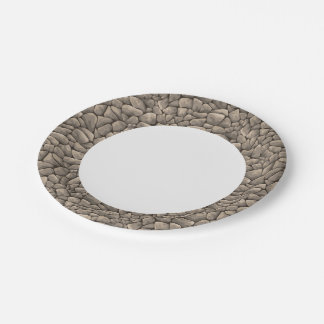 Cartoon Stone Texture 7 Inch Paper Plate
