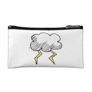 Cartoon Storm cloud Design Cosmetic Bag