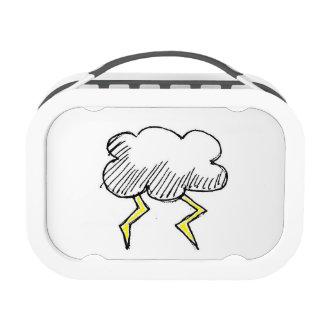 Cartoon Storm Cloud Design Replacement Plate