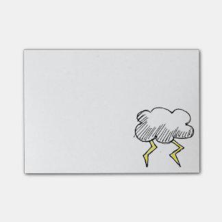 Cartoon Storm Cloud Design Post-it Notes