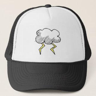 Cartoon Storm Cloud Design Trucker Hat